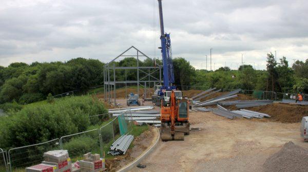 SGP Leicester Office Steel frame timelapse image