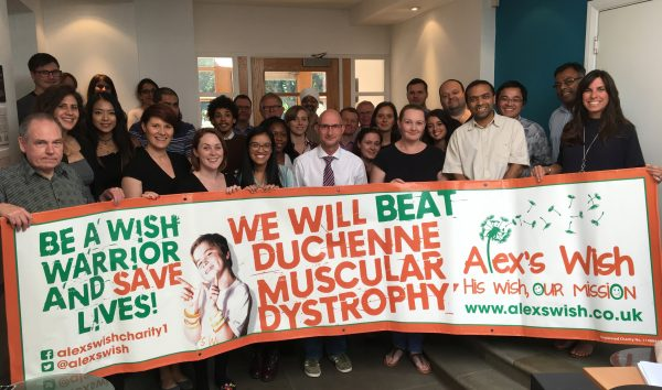 Alex's Wish Charity - SGP Support - Staff Gather in Leicester Office